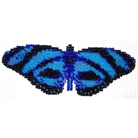 Borduurpakket vlinder blauw 7x18cm