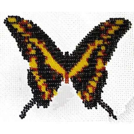 Borduurpakket vlinder geel/bruin 12x15cm