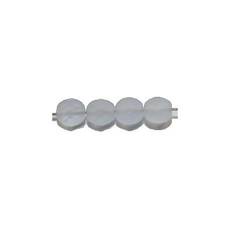 Facetkraal 6mm mat licht saffierbl. 25st
