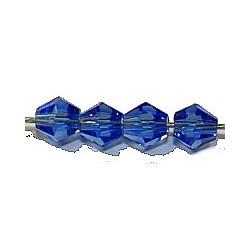 Facetkraal 4mm konisch transp.saffierbl. 50st.