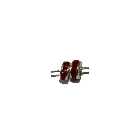 Rondel 5mm zilverkl rood 5st