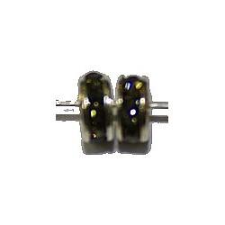 Rondel 5mm zilverkl. black diamond 5st
