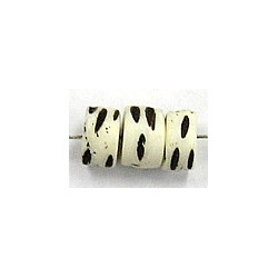 Benen kraal 5x7mm wit/zwart 10stuks
