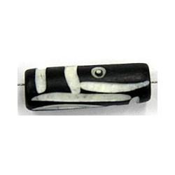 Benen kraal ton 25x10mm zwart/wit 5stuks