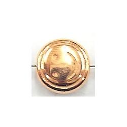 Metallook kraal smilie11x7mm roodgoudkl. 5 stuks