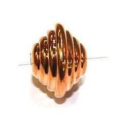 Metallook kraal 18x25mm roodgoudkl. per stuk