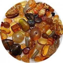 Tsjechische glasmix bruin 50 gram
