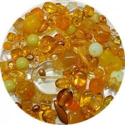 Tsjechische glasmix geel 50 gram
