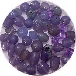 Tsjechische glasmix lila 50 gram