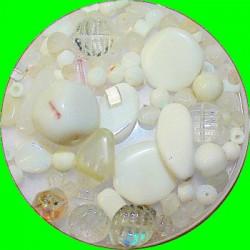Tsjechische glasmix wit 50 gram