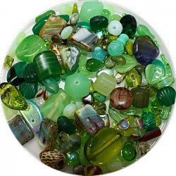 Tsjechische glasmix groen 50 gram