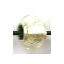 Pandorastyle kraal zilverfolie p.stuk