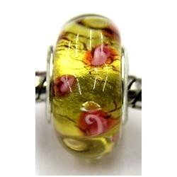 Pandorastyle kra. geel roos inside p.stuk
