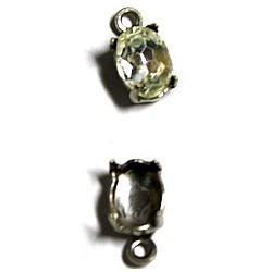 Hangkastje met steen 8x6mm kristal p.st