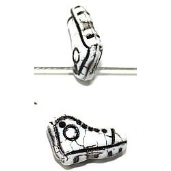 Glaskraal sportschoen 4x10mm wit/zwart 6st.