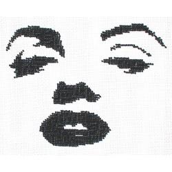 Borduurpakket silhouet Marilyn Monroe 17x22cm