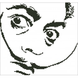 Borduurpakket silhouet Salvador Dali 25x28cm