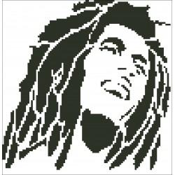 Borduurpakket Bob Marley 23x23cm