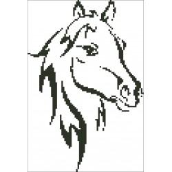 Borduurpakket Paard 18x26cm