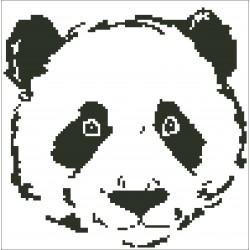Borduurpakket Panda beer 23x23cm