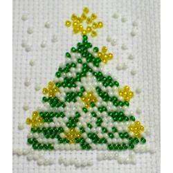 Borduurpakket kerstboom 6x8cm