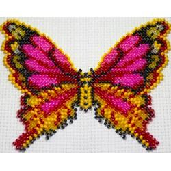 Vlinder multicolor 10x13 cm.