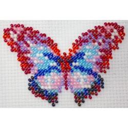 Vlinder multicolor 6x8 cm.