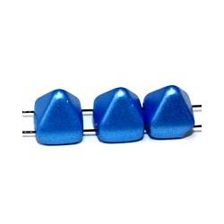 TILA STUD kralen 6x6mm mat blauw 25st.