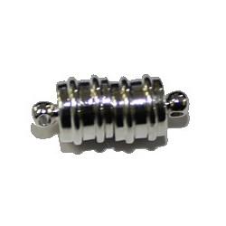 Magneetsluiting 8x18mm verzilv. p.st.