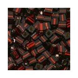 Miyuki square 4mm d.rood silverline 100st.
