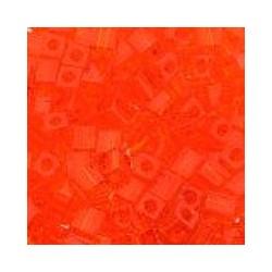 Miyuki square 4mm transp oranje 100st.