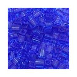 Miyuki square 4mm transp blauw 100st.