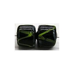 glaskraal ton 10x10 zwart/groen 10 stuks