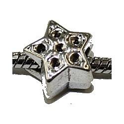 Metalen kraal 13mm gat 5mm ster