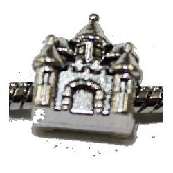 Metalen kraal 13mm gat 5mm kasteel