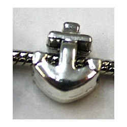 Metalen kraal 13mm gat 5mm anker