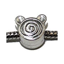 Metalen kraal gat 5mm kronkel met oren