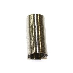 Verenstaal 10mm verzilverd ca 24slagen