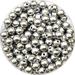 Glasparel 4mm mat zilver 200st.