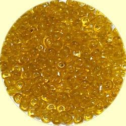 Rocailles 7/0 transp licht topaasbr 25gr