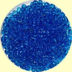 Rocailles 7/0 transp helderblauw 25gram