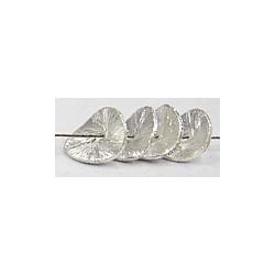 Bali zilver platte schijf 10mm diamond polish15st.