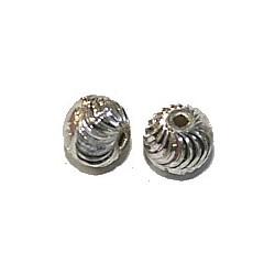 B ali zilver kraal bewerkt 9mm p.st