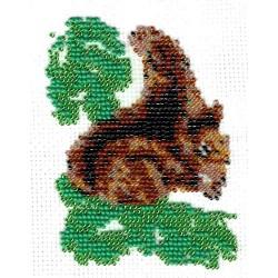 Borduurpakket donkere eekhoorn 10x13cm