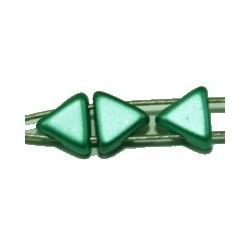 Tila driehoek 5,7mm metallic groen 25stuks