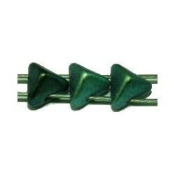 Tila driehoek Stud 5,7mm metallic groen 25stuks