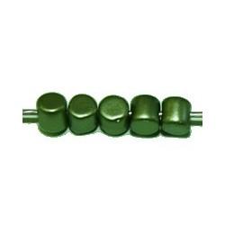 Cylinder kraal 3mm groen glanzend100st.