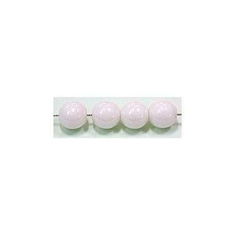 Glaskralen 8mm wit parelmoer ca.16 stuks
