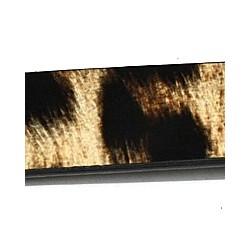 Imitatie leer18x2mm dierprint zwart/grijsbr. 10cm