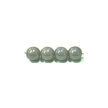 Glaskralen 8mm grijs parelmoer ca.16 stuks